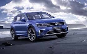 Картинка Volkswagen, концепт, фольксваген, GTE, Tiguan, 2015, Concept 2015