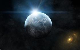 Картинка свет, звезда, stars, sunrise, planet
