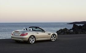 Картинка Mercedes, фото, тачки, вид, море, машины, Benz SLK Roadster