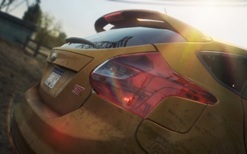 Картинка машина, грязь, отблески, need for speed most wanted 2, FORD FOCUS ST