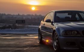 Картинка машина, авто, BMW, на улице, E46