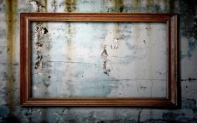 Картинка wood, empty frame, strange, wall