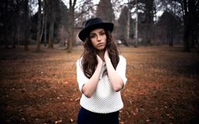 Картинка шляпа, губки, кареглазая, Pure