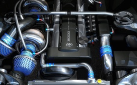 Картинка turbo, toyota, tuning, Supra, engine