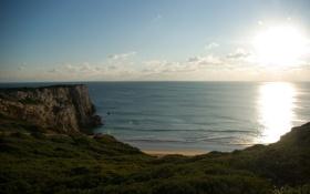 Картинка море, волны, солнце, блики, побережье, пейзажи, вид