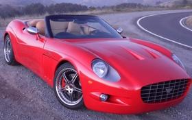 Обои красный, sports car, дорога, ANTEROS