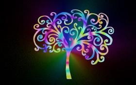 Картинка песок, цвета, дерево, рисунок