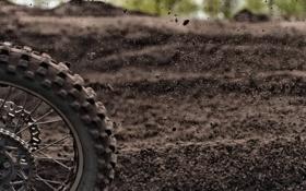 Картинка макро, колесо, грязь