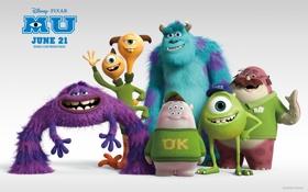 Обои Monsters University, Академия Монстров, Pixars