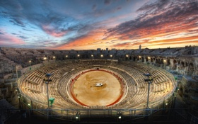 Обои закат, арена, Sunset, Gladiator, Arena