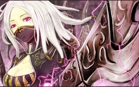 Обои оружие, ниндзя, league of legends, irelia, розовые глаза, мечи., ирелия
