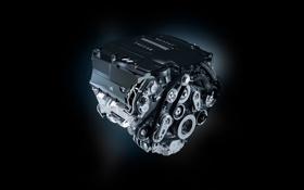 Обои черный, двигатель, Jaguar, фон