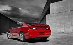 Картинка красный, Dodge, Charger