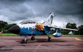 Обои истребитель, German, бомбардировщик, аэродром, Panavia Tornado