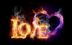 Обои fire, love, style, beautiful