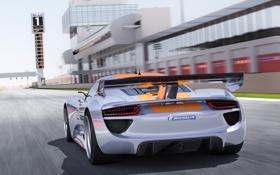 Обои машина, Concept, Porsche, концепт, спойлер, 918, RSR