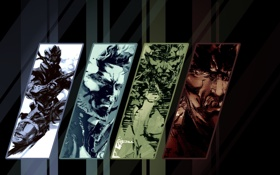 Обои snake, big boss, metal gear