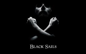 Обои пираты, сериал, полумрак, чёрный фон, Black Sails, Черные паруса