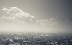 Обои небо, облака, здания, небоскребы, USA, америка, чикаго