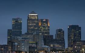 Обои ночь, город, дома, London, England, Ratcliff