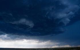 Обои стихия, трава, небо, поле, шторм, тучи