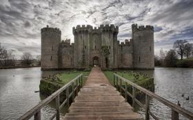 Картинка замок, Bodiam, England