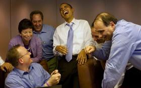 Обои настроение, смех, сша, президент, president, barack obama, барак обама