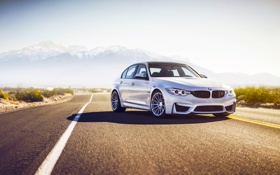 Обои BMW, Color, California, Road, Silver, Wheels, HRE