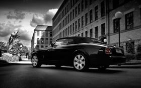 Обои город, Rolls-Royce, черное