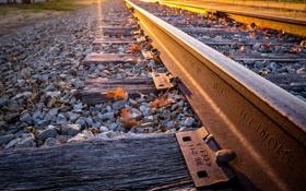 Картинка железная дорога, рельсы, перспектива