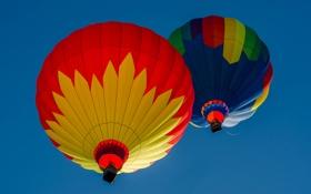 Обои небо, полет, воздушный шар, спорт