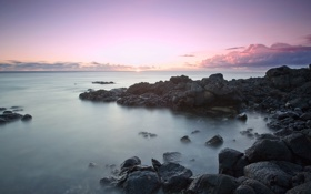 Обои море, небо, камни