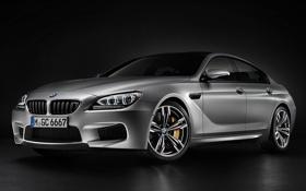 Картинка фон, BMW, БМВ, полумрак, Gran Coupe, передок, Гран Купе