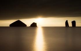 Обои Water, Portugal, Island, Rocks, Azores, Seascape