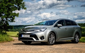Картинка тойота, Avensis, универсал, Toyota, Touring Sports, UK-spec, 2015