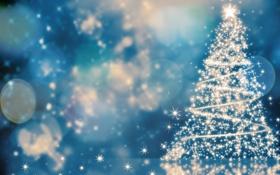 Обои праздник, елка, огоньки, Christmas