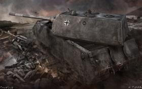 Картинка tank, танк, танки, World of Tanks, Wargaming.Net, Maus, Германия