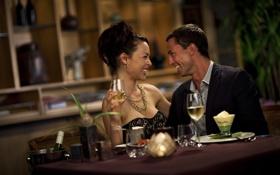 Обои настроение, женщина, мужчина, шампанское, двое