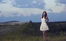 Картинка небо, девушка, платье, фотограф, girl, photography, photographer
