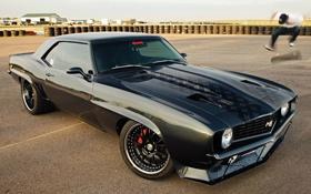 Обои Chevrolet, Camaro, мускул кар, black star, america 60 - 70