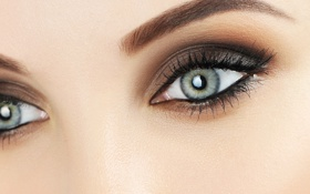 Обои woman, blue, eyes, makeup