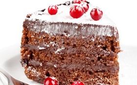 Обои шоколадный, пирожное, крем, ягоды, chocolate, berry, десерт