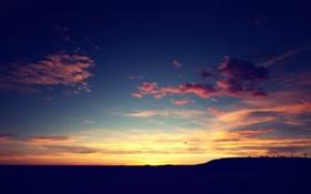 Картинка небо, облака, рассвет, Colorado