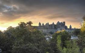 Обои city, город, фотограф, photography, Lies Thru a Lens, Крепость Каркасон, Carcassonne Citadel