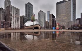 Картинка парк, небоскребы, чикаго, chicago, миллениум парк