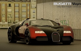 Картинка красота, мощь, Bugatti, Veyron, суперкар