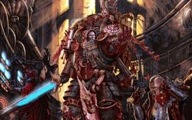 Обои Адептус Механикус, служитель, Warhammer, 40k, храм