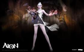 Картинка девушка, магия, Aion, волшебник