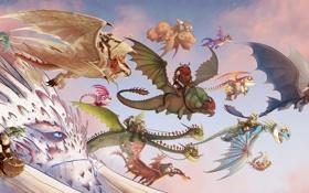 Картинка парад, Как приручить дракона, dragon, How to Train Your Dragon