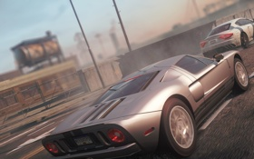 Картинка город, гонка, Maserati, спорткар, классика, need for speed most wanted 2012, ford gt 40